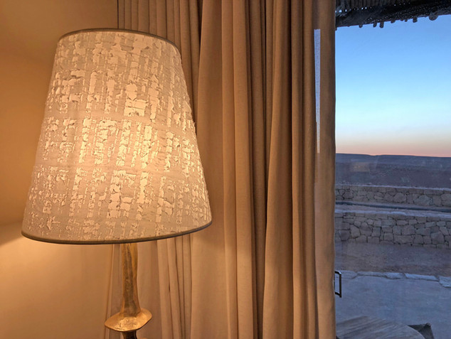 Lampshades for Sixsenses Shaharut Hotel