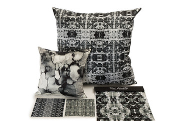 Black and White abstract pillows
