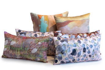 Each pillow is a drawing