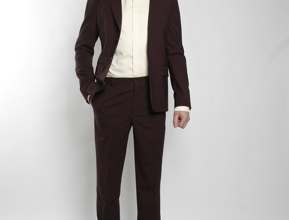 костюм мужской двойка коричневый