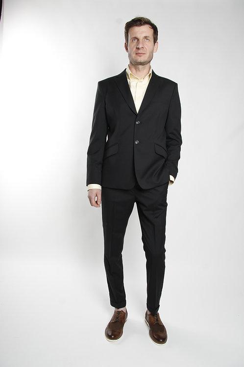 костюм двойка черный