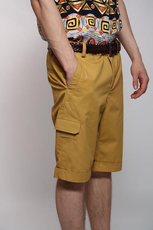 шорты мужские горчичные