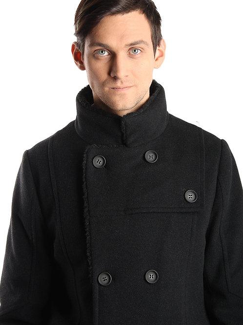 Куртка-тулуп черный