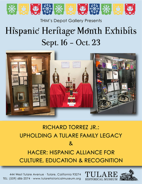 Hispanic Heritage Month Exhibits in our Depot Gallery!!