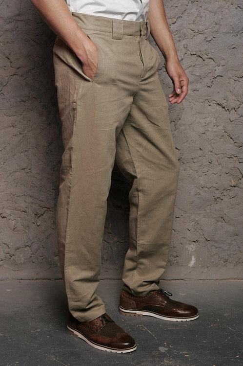 брюки мужские льняные серые