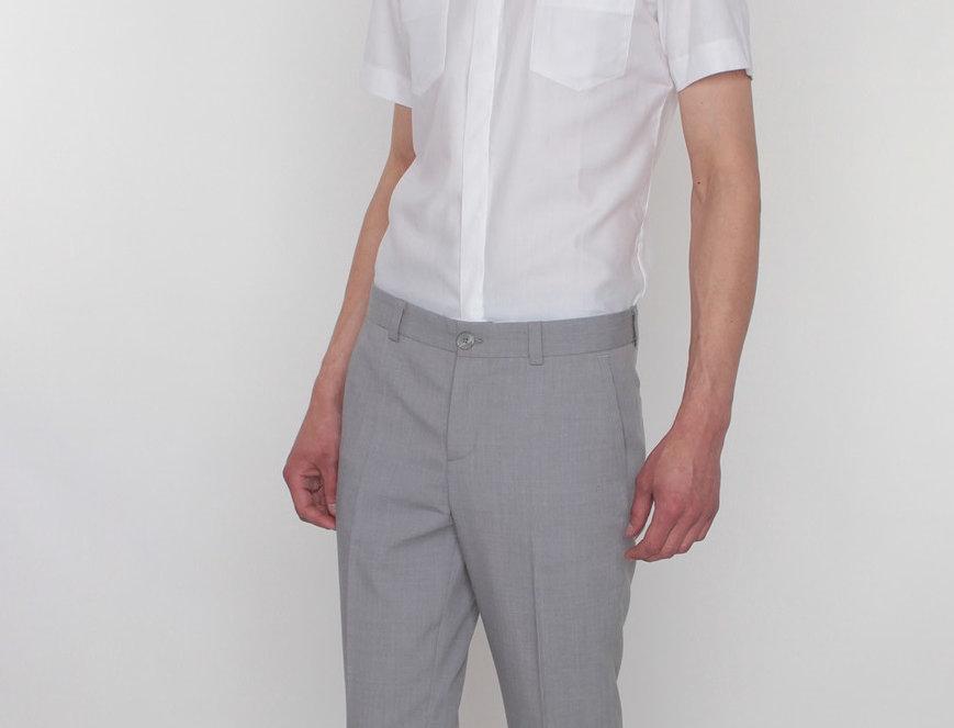 брюки мужские светло-серые тонкая шерсть