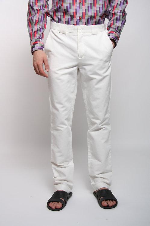 брюки мужские хлопок белый