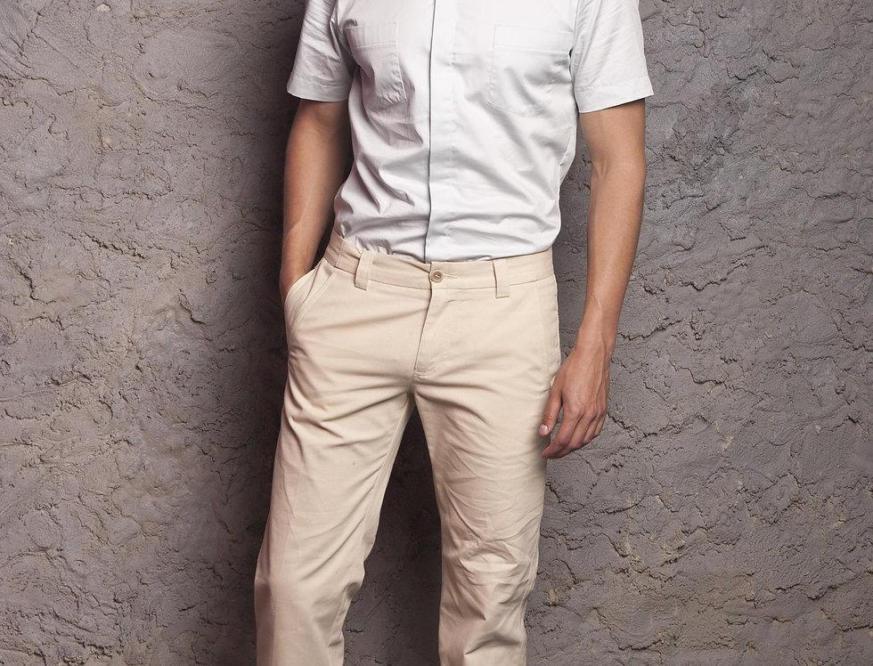 брюки мужские, летние, цвет слоновая кость
