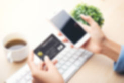 mobile payment ,online shopping concept.