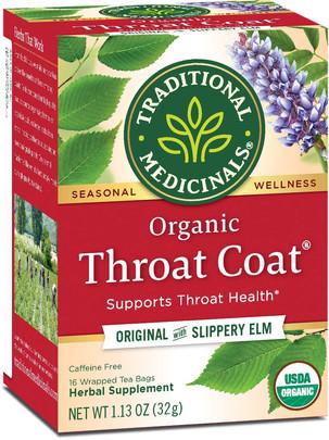 Throat coat tea.