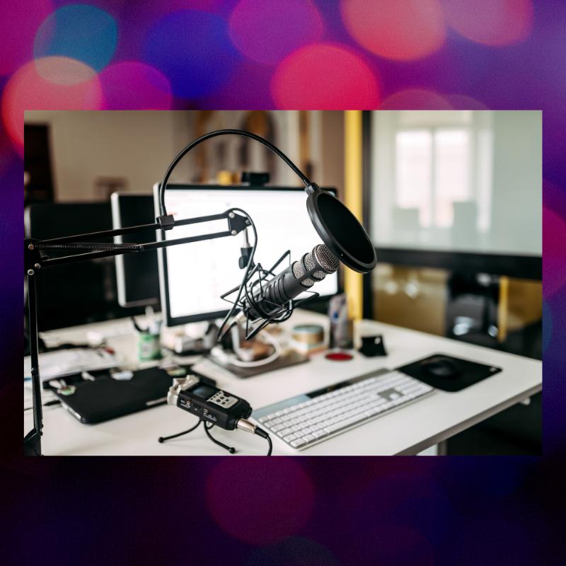 Mic and sound studio necessities.