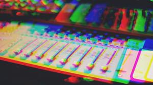 studio soundboard.