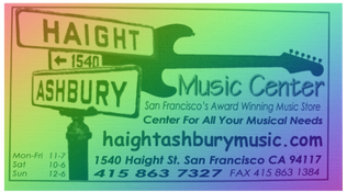 Haight Ashbury Music Center contact info.