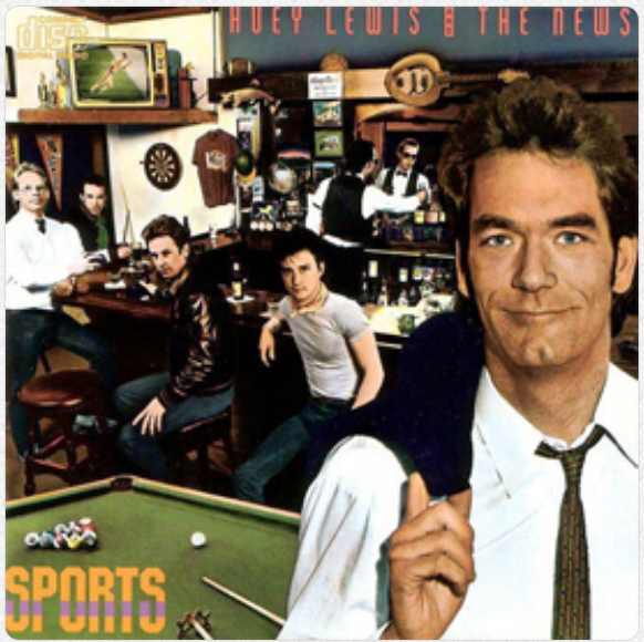 Cover art for Huey Lewis and the News album Sports