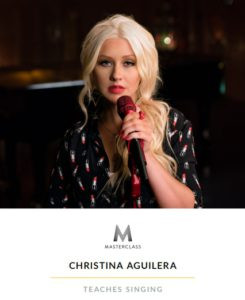 cover image link to Christina Aguilera's masterclass on vocalization.