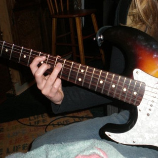 Me & my black & tan Fender Stratocaster