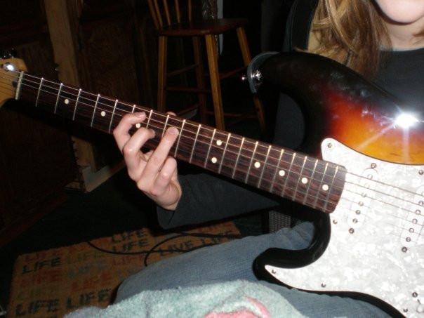 Me & my black & tan Fender Stratocaster