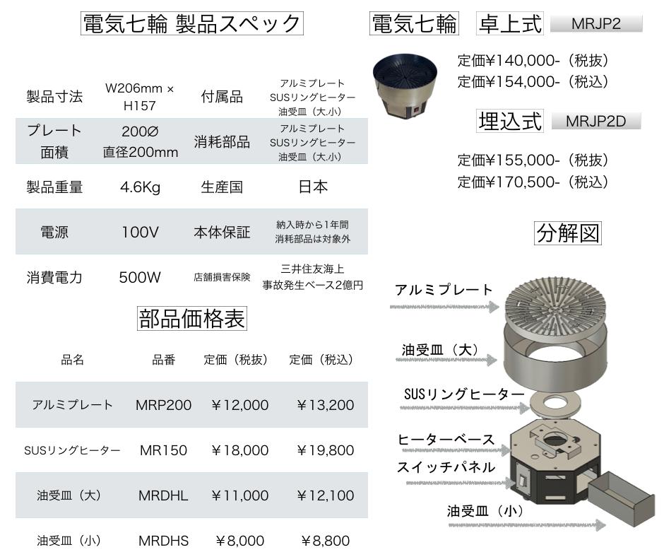 焼肉ロースター 価格表