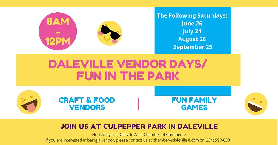 Daleville Vendor Days FB Post.png