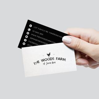 The Woods Farm business card