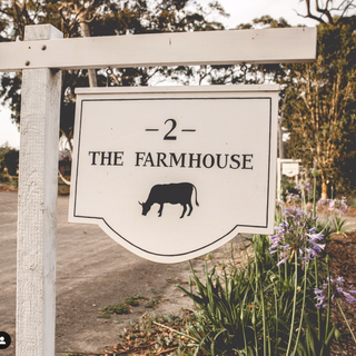 The Woods Farm House signs