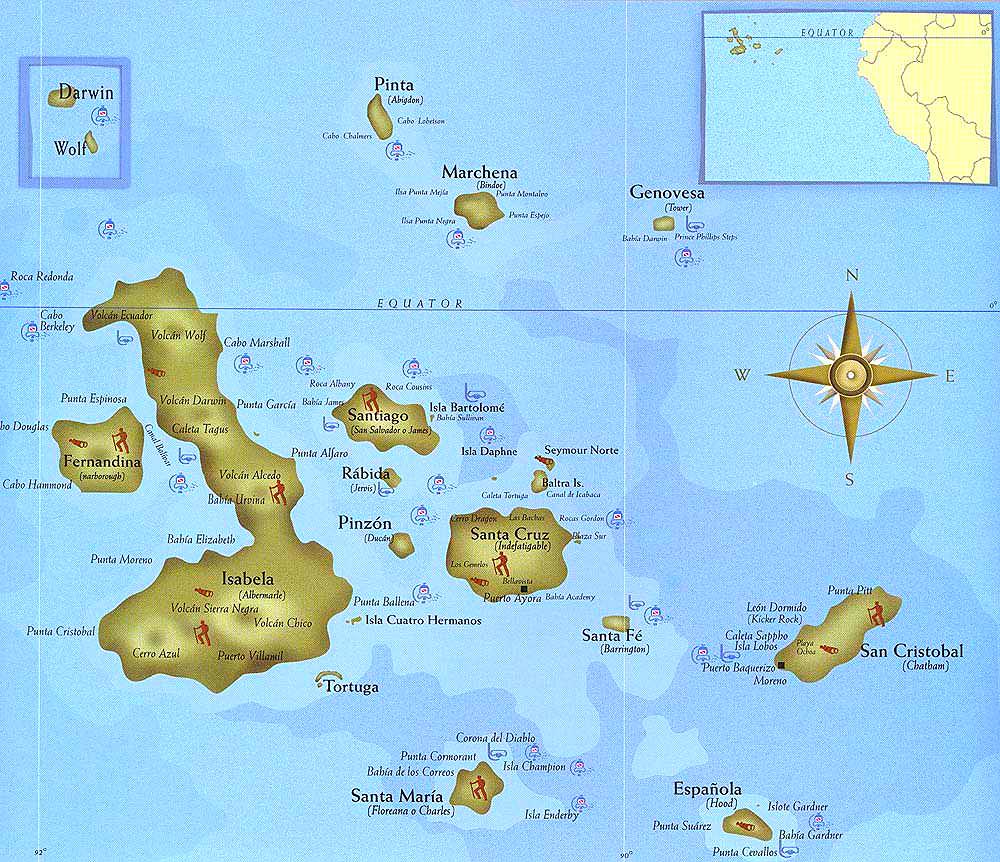 Galápagos Island Map