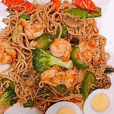 F10S. Japanese Style Saute Shrimp Ramen Noodle