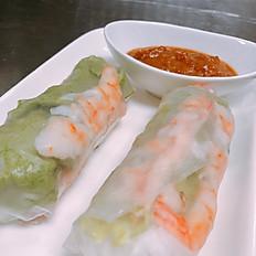 A3S. Soft Fresh Shrimp Springroll