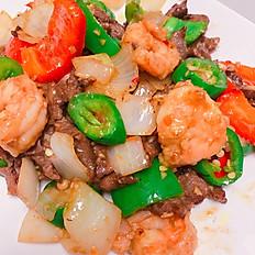 S20. Jalapeno Pepper Steak & Shrimp