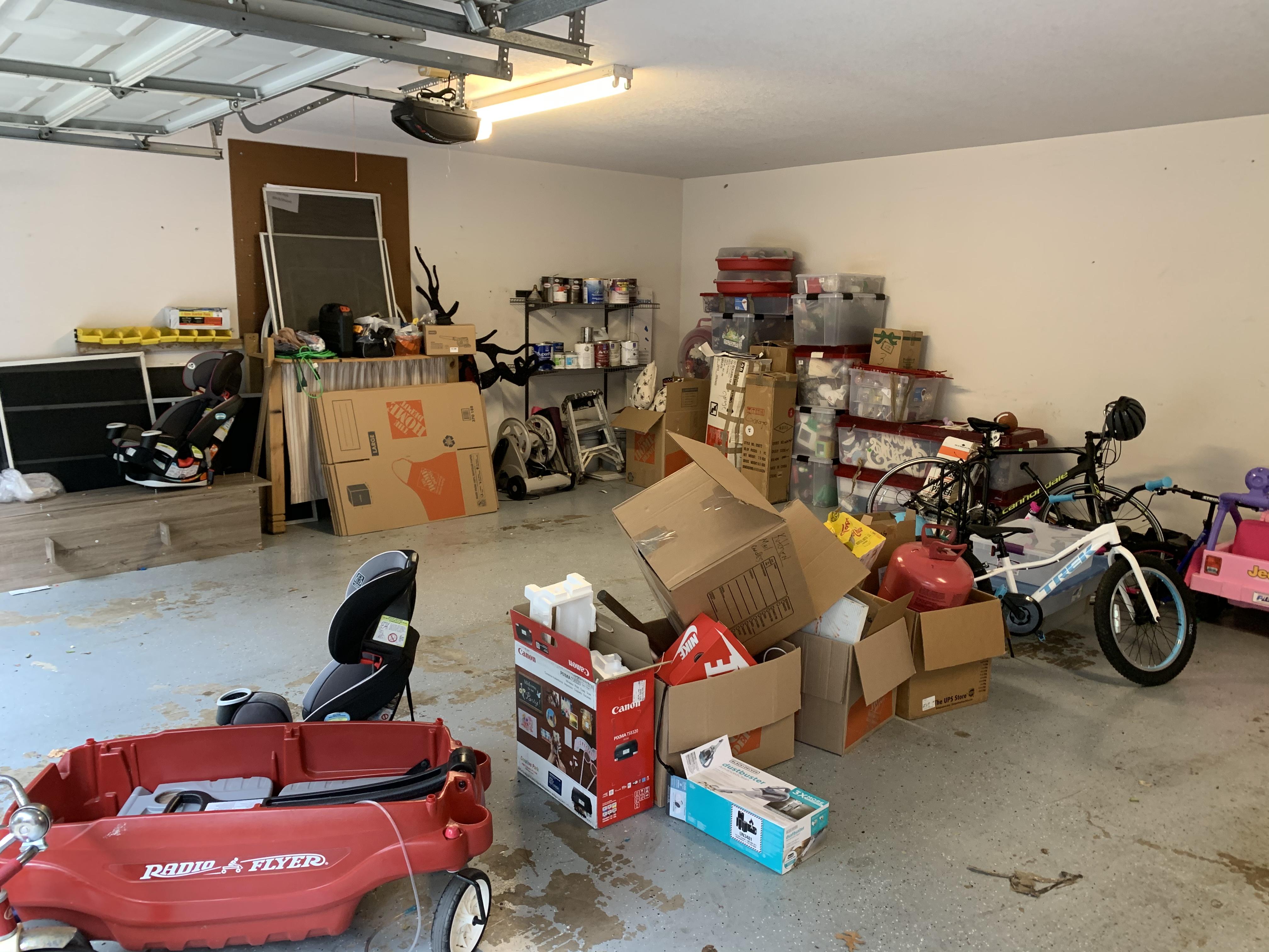 Organized Garage (before unpacking)