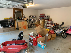 Organized Garage (before unpacking)
