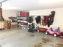 Organized Garage (after unpacking)
