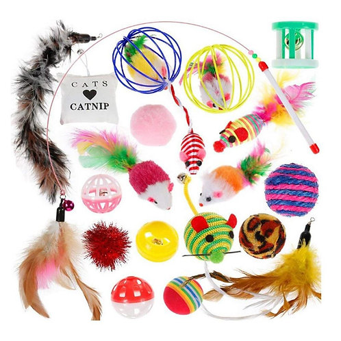 20 Pcs Cat Toys Variety Pack