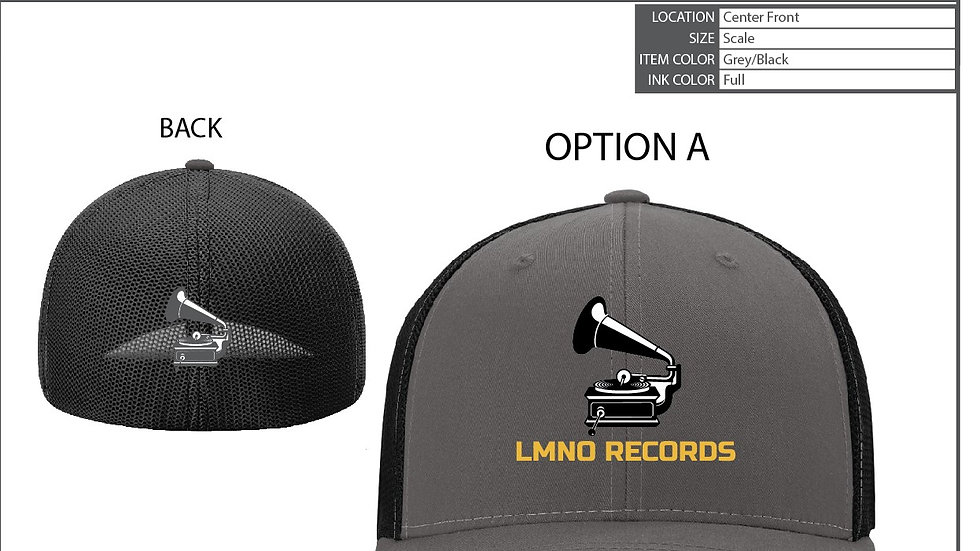 LMNO Records Fitted Hat