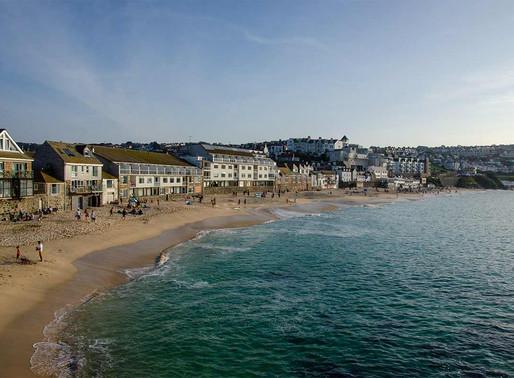The English surfing hub; Cornwall