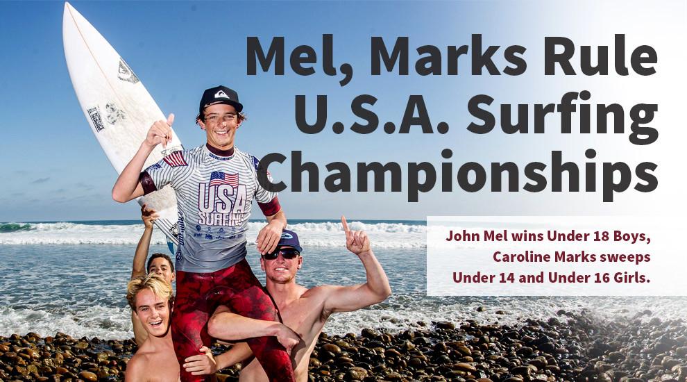 Congrats on your USA Surfing Championship John Mel
