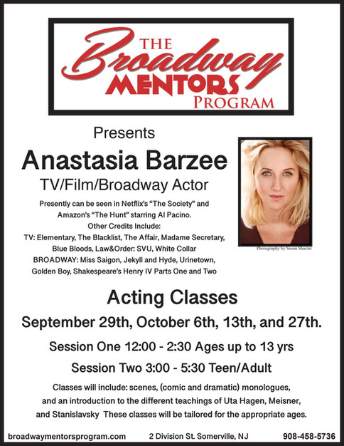 Anastasia Barzee Acting Class Fall 2019_