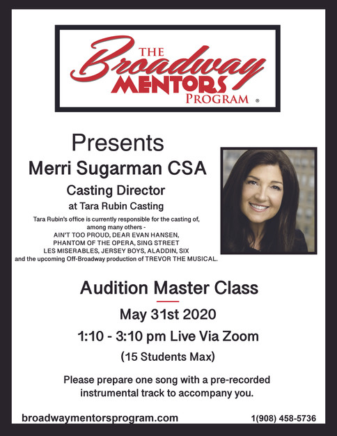 Merri Sugarman AUDITION MASTER CLASS 053
