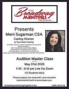 Merri Sugarman AUDITION MASTER CLASS 053