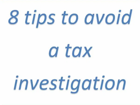 8 tips to avoid a tax investigation by HMRC