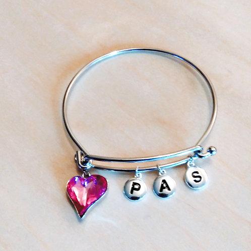 Initial Bangle Bracelets, Personalized Bracelets, Jewelry, Unisex Jewelry, Custommade Jewelry