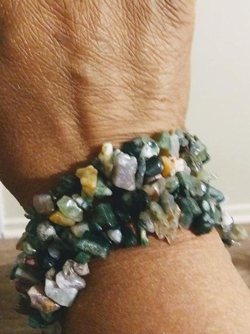 Fancy Jasper Chip Stone Bracelet