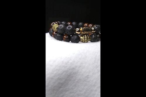 Stack Beaded Bracelets, Bracelets for Men, Tiger Eye, Natural Gemstone Jewelry