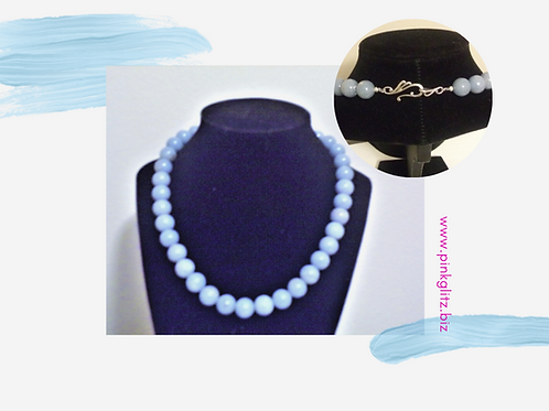 Angelite, crystal, necklace, jewelry for women, gem jewelry, natural gemstones