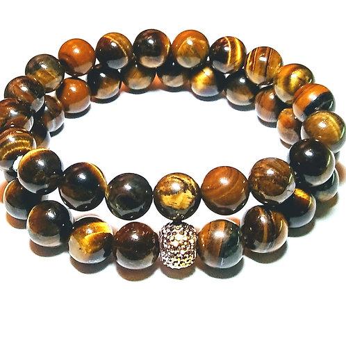 Tigers Eye Stack Bracelet