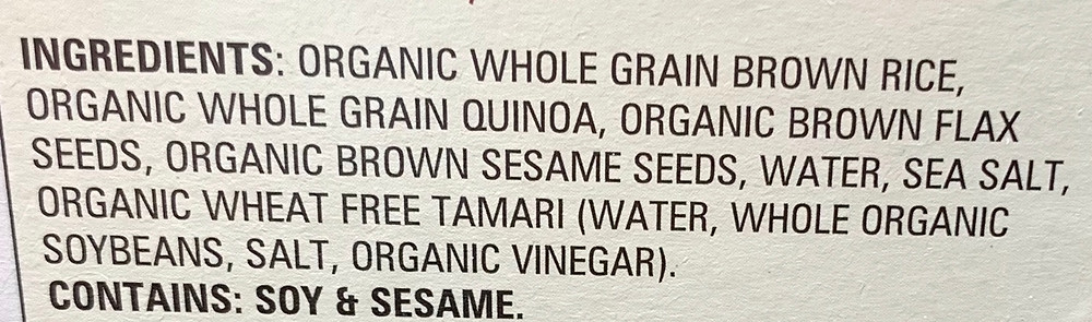 Costco Mary's Organic Crackers Ingredients