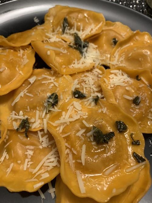 Brown Butter Sage Rana Giovanni Butternut Squash Ravioli from Costco