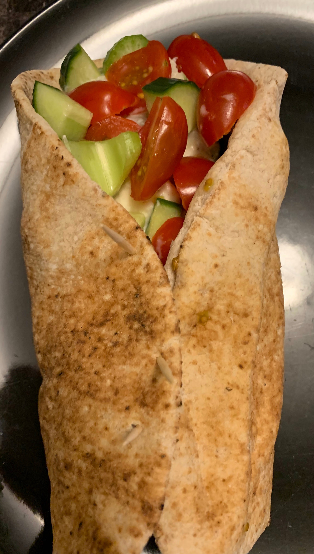 Costco Good Foods Tzatziki Style Chicken Salad Pita Wrap