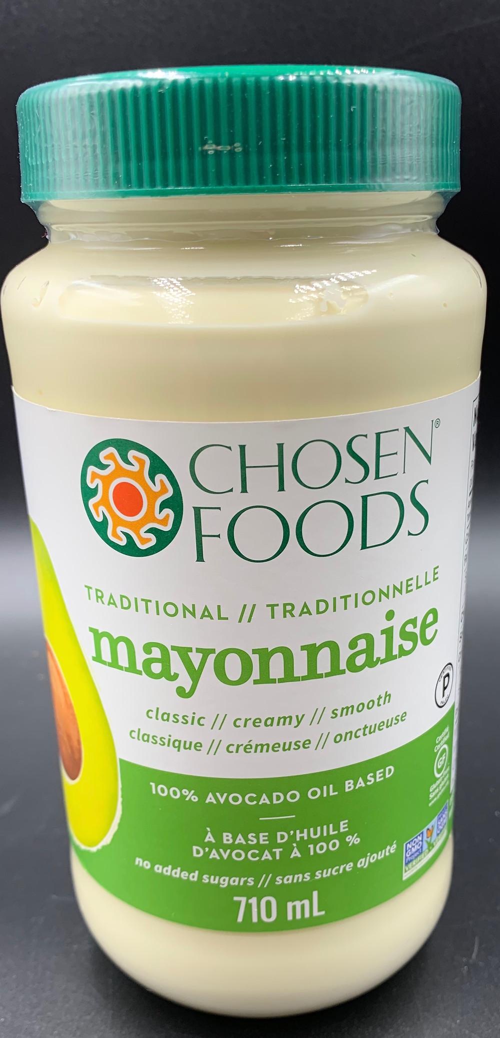 Costco Chosen Foods Avocado Mayonnaise