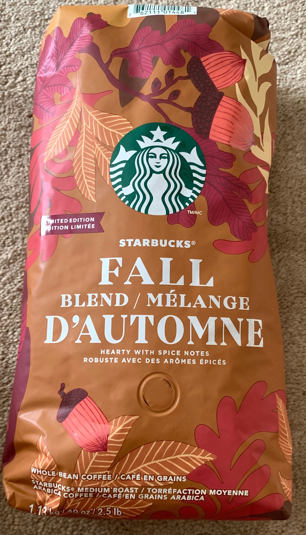 Costco Starbucks Limited Edition Fall Blend Coffee